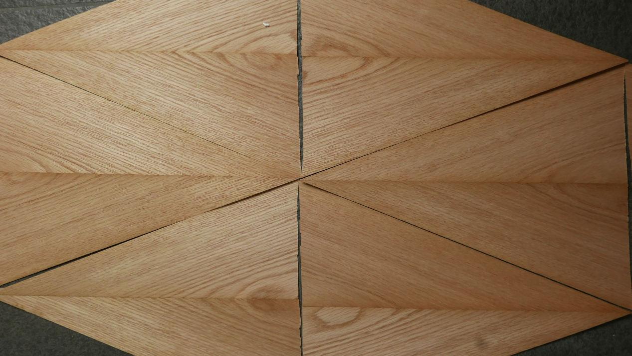 G626-4 Eiken Gevoegd 9 stuks 28x41cm