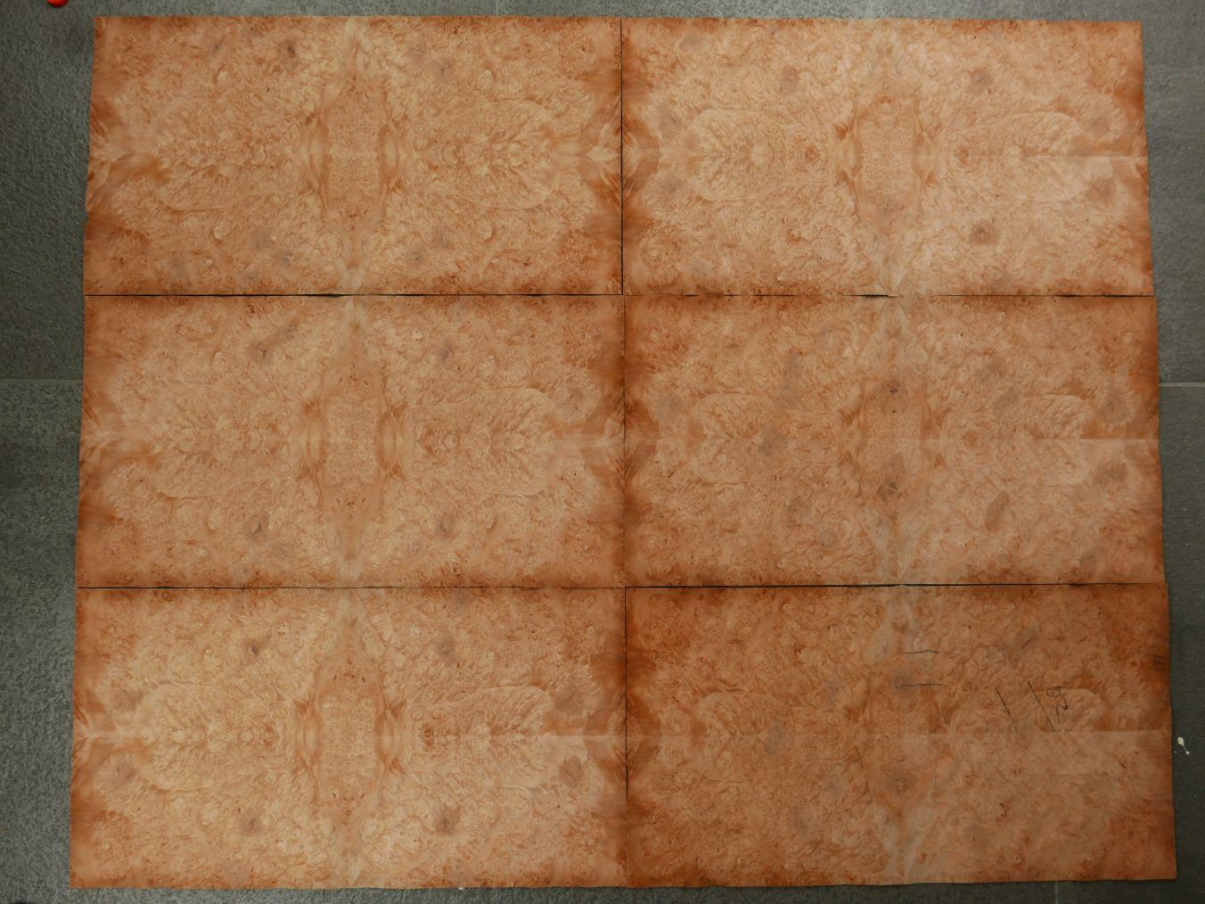 GW099-1 Gevoegd Esdoorn Gewaterd Wortel 31x58cm 6st