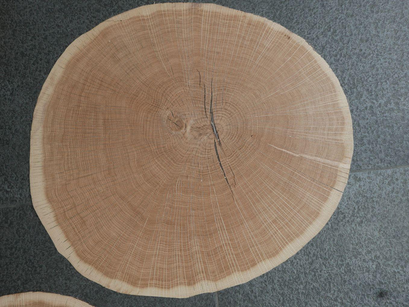 A0194-3 Dwarssnede Eiken 52x57cm 10st