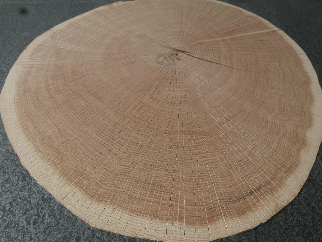 A0194-4 Dwarssnede Eiken 52x57cm 10st