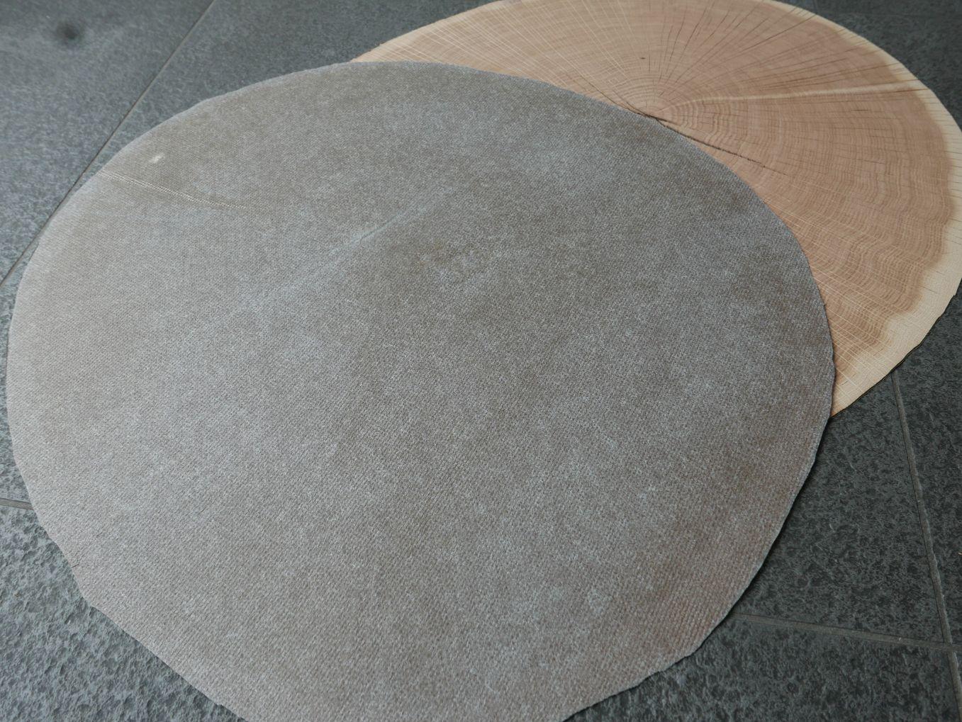 A0194-6 Dwarssnede Eiken 52x57cm 10st