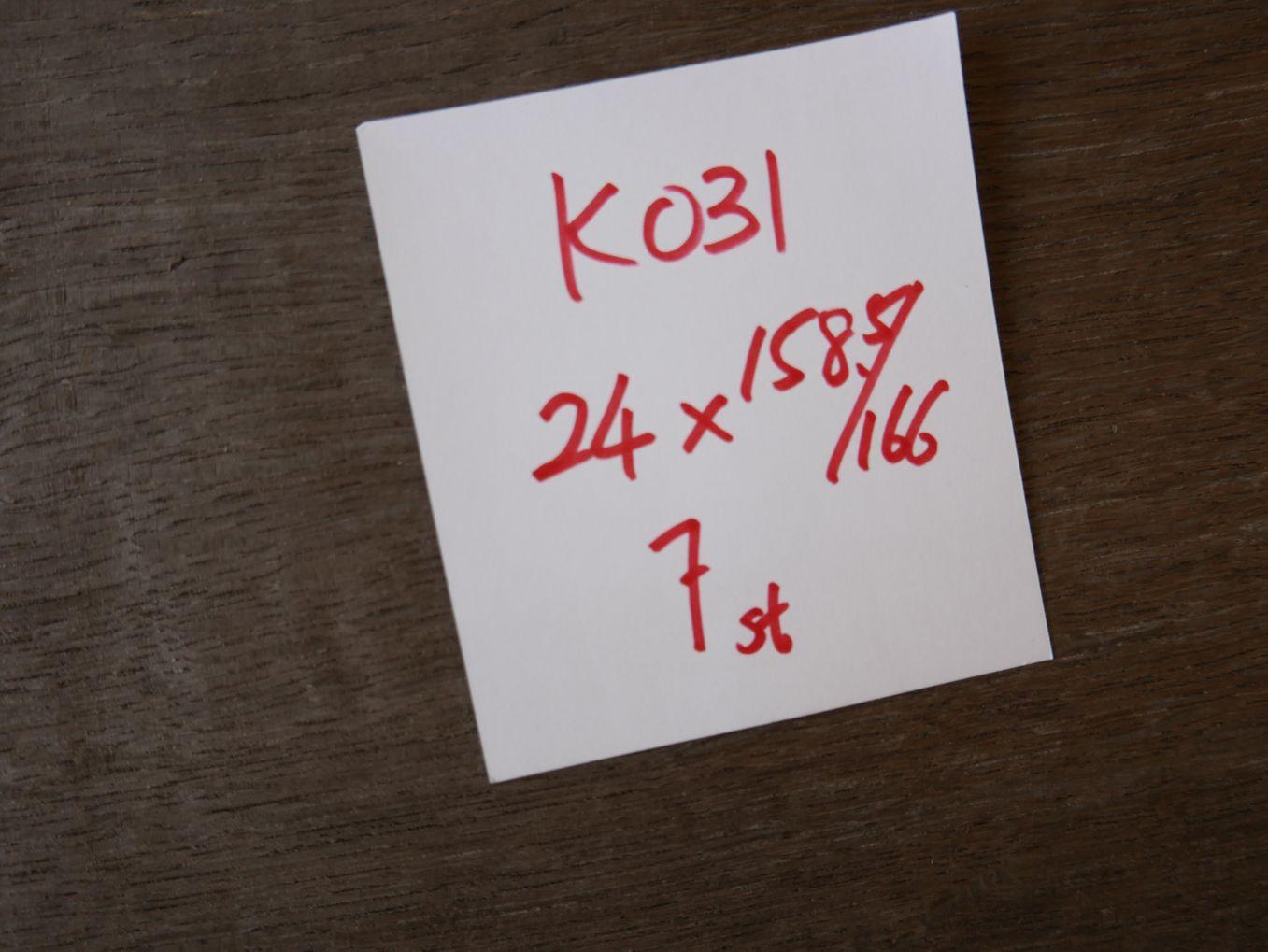 K0031-4 Moor Eiken 1mm 24×158,5-166cm 7st